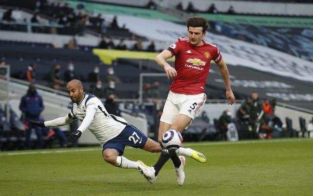 Harry Maguire, right, helped Manchester United to another comeback win