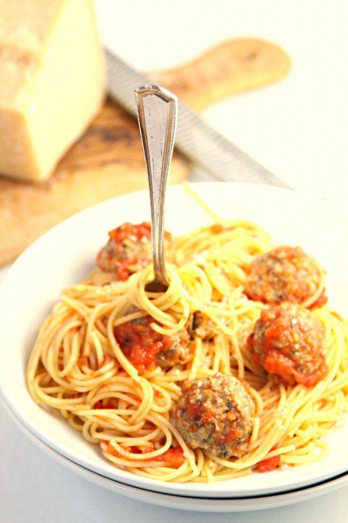 "<strong>Get the&nbsp;<a href=""http://www.bellalimento.com/2014/10/06/spaghetti-with-mushroom-meatballs/"">Spaghetti with Mushroom Meatballs recipe</a>&nbsp;from Bell'alimento</strong>"