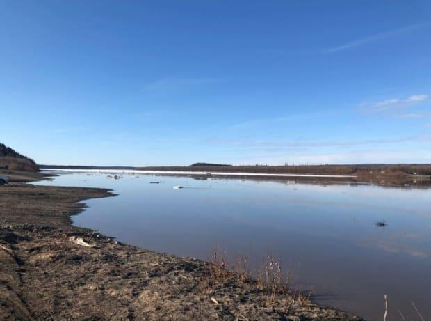 The Peel River at Fort McPherson is ice free after breaking without incident earlier this week. (William Firth/CBC - image credit)