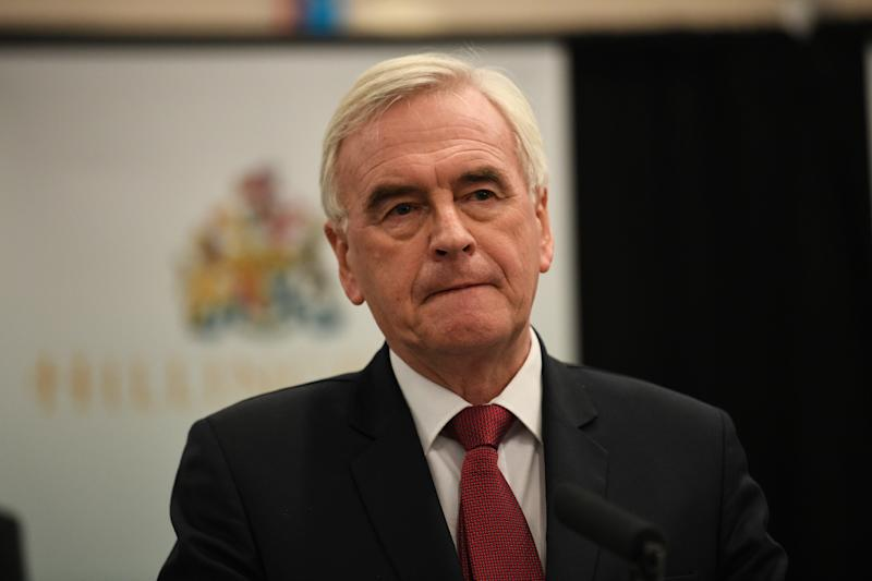 Hayes and Harlington MP John McDonnell speaking at Uxbridge, where he retained his parliamentary seat after the 2019 General Election.