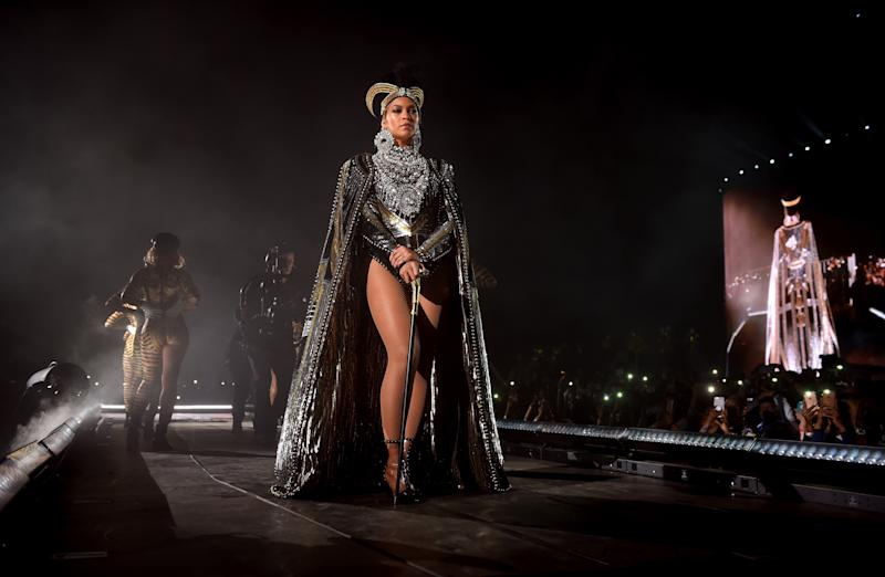 Beyonce Knowles performs onstage during 2018 Coachella Valley Music And Arts Festival. (Larry Busacca via Getty Images)