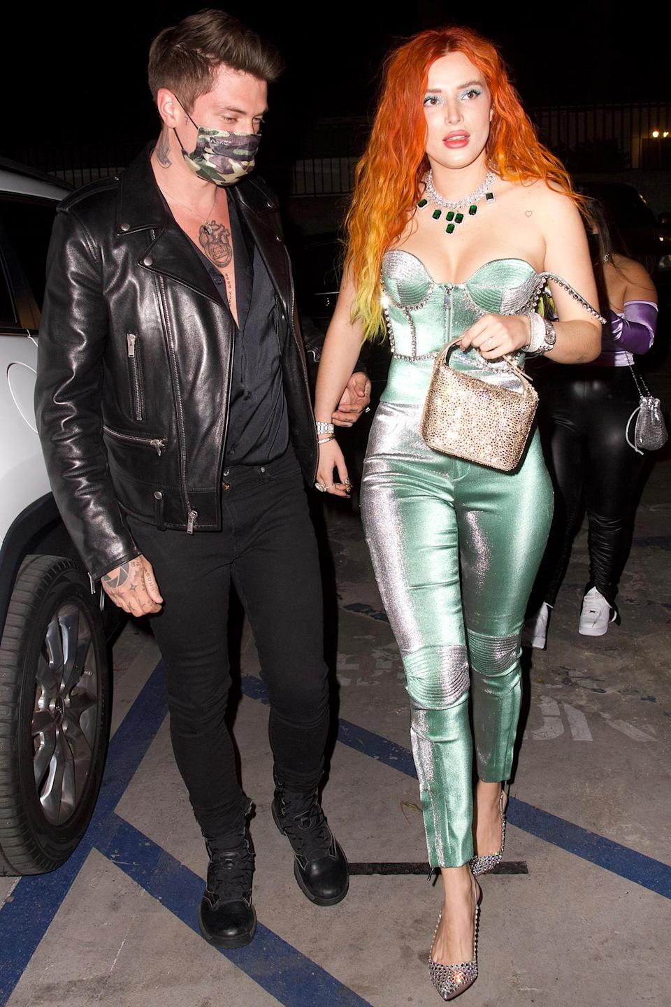 <p>Bella Thorne and her fiancé Benjamin Mascolo had a night out together in Hollywood.</p>