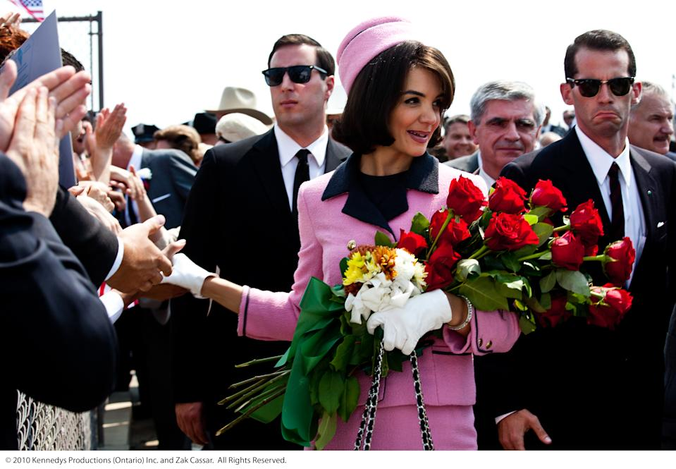 Katie Holmes plays Jackie Kennedy in 2011 miniseries