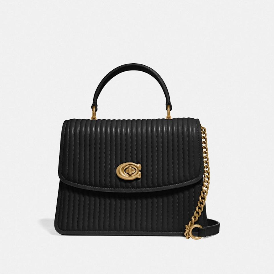 """<h3><a href=""""https://www.coach.com/shop/sale-women?viewAll=true"""" rel=""""nofollow noopener"""" target=""""_blank"""" data-ylk=""""slk:Coach"""" class=""""link rapid-noclick-resp"""">Coach</a></h3><br><strong>Dates: </strong>Limited time<br><strong>Sale: </strong><a href=""""https://www.coach.com/shop/sale-women?viewAll=true"""" rel=""""nofollow noopener"""" target=""""_blank"""" data-ylk=""""slk:50% off summer styles"""" class=""""link rapid-noclick-resp"""">50% off summer styles</a><br><strong>Promo Code: </strong>None<br><br>Coach has long been a go-to for quality leather goods, and now that the brand has tapped J.Lo and Michael B. Jordan for recent campaigns and collabs, we can't get enough. Their current <a href=""""https://www.coach.com/shop/sale-women?viewAll=true"""" rel=""""nofollow noopener"""" target=""""_blank"""" data-ylk=""""slk:50% off promotion"""" class=""""link rapid-noclick-resp"""">50% off promotion</a> applies to an array of summer-friendly shoes, handbags, and accessories just waiting to get scooped up for less. <br><br><strong>Coach</strong> Parker Quilted Top Handle Bag, $, available at <a href=""""https://go.skimresources.com/?id=30283X879131&url=https%3A%2F%2Fwww.coach.com%2Fcoach-parker-top-handle-with-quilting%2F52666.html"""" rel=""""nofollow noopener"""" target=""""_blank"""" data-ylk=""""slk:Coach"""" class=""""link rapid-noclick-resp"""">Coach</a>"""
