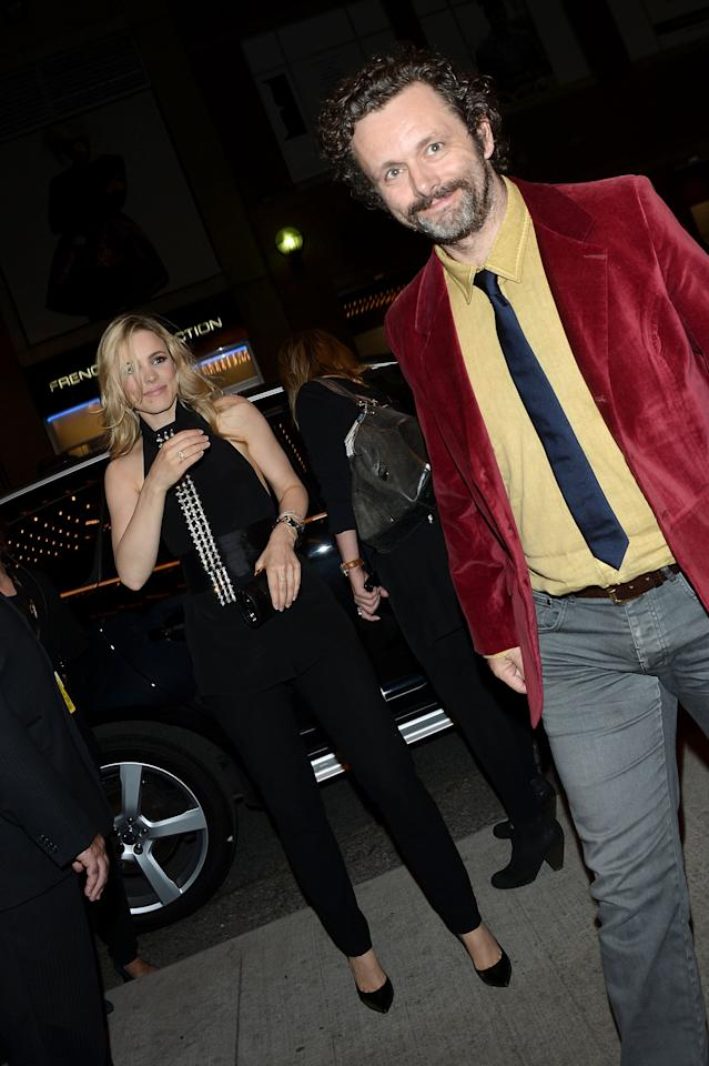 "Michael Sheen <a target=""_blank"" href=""http://ca.omg.yahoo.com/blogs/north-stars/michael-sheen-tries-avoid-rachel-mcadam-spotlight-tiff-150544823.html"">skipped the red carpet</a> and instead let girlfriend Rachel McAdams get all the glory at the premiere of her racy film ""Passion."" He was also absent from the opening of her other TIFF movie ""To the Wonder."" But reports say he lost his camera shyness at the ""Passion"" after party, and the couple were back at their attached-at-the-hip ways."