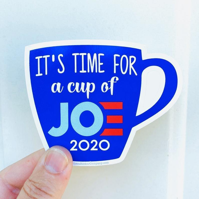 <p><span>Cup of Joe 2020 Vinyl Sticker </span> ($3)</p>