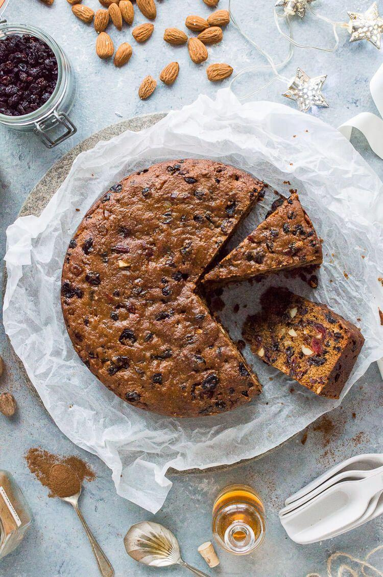 "<p>You don't have to be vegan to enjoy this fruitcake. Although there are no eggs or milk used in the ingredients, it's still delicious. </p><p><strong>Get the recipe at <a href=""https://domesticgothess.com/blog/2018/11/10/vegan-christmas-cake/"" rel=""nofollow noopener"" target=""_blank"" data-ylk=""slk:Domestic Gothess"" class=""link rapid-noclick-resp"">Domestic Gothess</a>.</strong></p><p><strong><a class=""link rapid-noclick-resp"" href=""https://go.redirectingat.com?id=74968X1596630&url=https%3A%2F%2Fwww.walmart.com%2Fip%2FWilton-Treats-Made-Simple-Non-Stick-Cake-Pan-Set-Round-6-in-2-Count-Layered-Smash-Cake-Set%2F52668717&sref=https%3A%2F%2Fwww.countryliving.com%2Ffood-drinks%2Fg3610%2Fchristmas-fruitcake-recipes%2F"" rel=""nofollow noopener"" target=""_blank"" data-ylk=""slk:SHOP CAKE PANS"">SHOP CAKE PANS</a><br></strong></p>"
