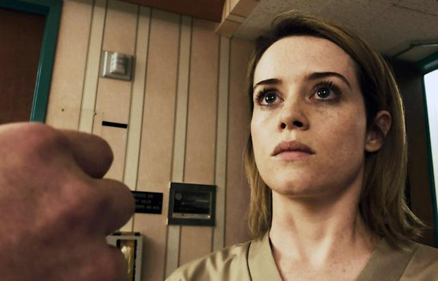 Claire Foy stars in the new Steven Soderbergh psychodrama <em>Unsane</em>. (Photo: Bleecker Street Media/Courtesy Everett Collection)