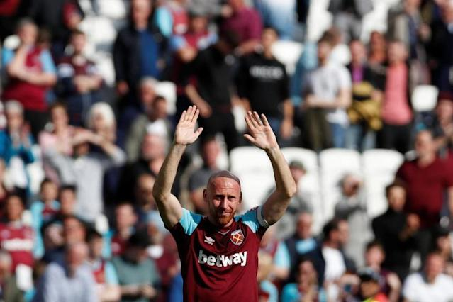 West Ham thank James Collins for his 'bravery and commitment' as defender departs after 10 years' service