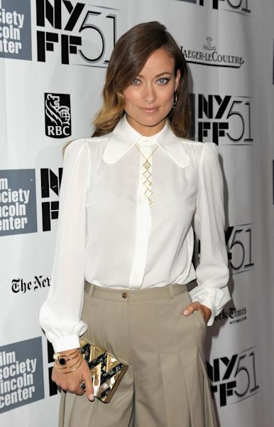 """NEW YORK, NY - OCTOBER 12: Actress Olivia Wilde attends the Closing Night Gala Presentation Of """"Her"""" during the 51st New York Film Festival at Alice Tully Hall at Lincoln Center on October 12, 2013 in New York City. (Photo by Dave Kotinsky/Getty Images)"""