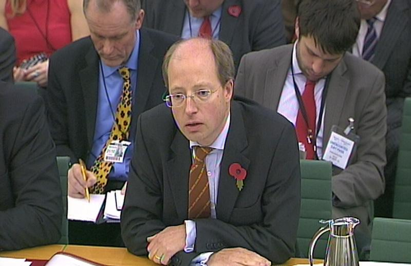 Department for Transport (DfT) permanent secretary Philip Rutnam answers questions at the House of Commons Transport Committee over the fiasco surrounding the West Coast rail franchise.