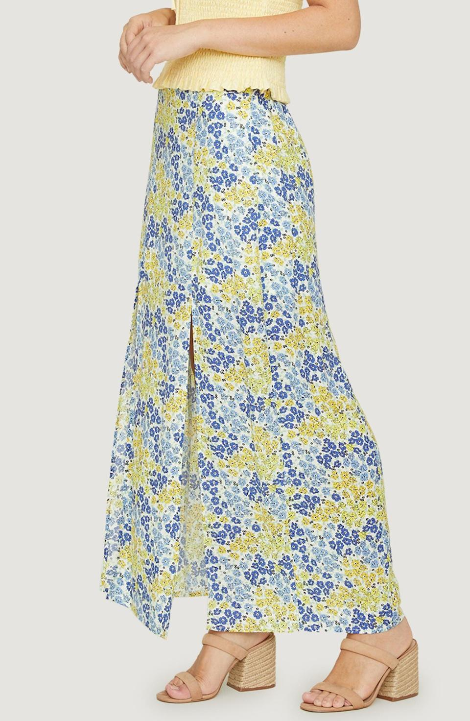 <p><span>Lost + Wander Blossom and Bloom Floral Double Slit Maxi Skirt</span> ($50, originally $85)</p>