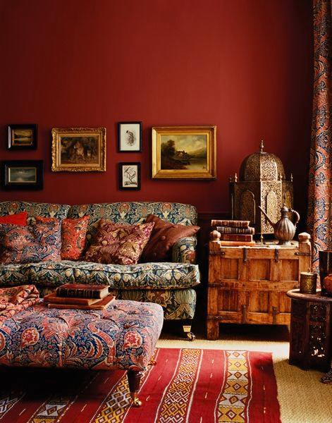 "<p>If you really want to make a statement a red wall can really help give your home that warm finishing touch. <a rel=""nofollow"" href=""http://picsdecor.com/home-decorating-ideas/ethno-eclectic-decor-idea-698"">[Photo: picsdecor]</a> </p>"