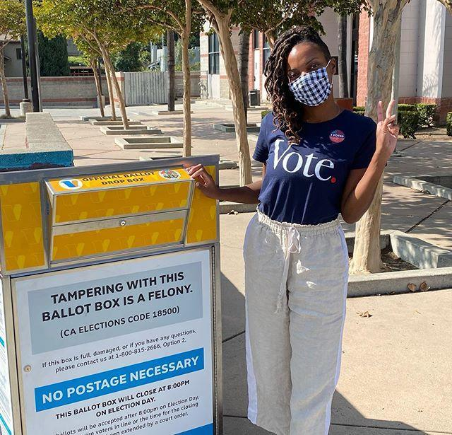 "<p>Actress and comedian Sasheer Zamata just voted and she hopes the rest of you do. ""And if you're mailing your vote in, make sure you drop it off at an official ballot box or polling location (should be listed online or on your ballot materials), because some people are putting out fake ballot boxes, LOL what a world,"" she wrote on Instagram.</p><p><a href=""https://www.instagram.com/p/CGSzu14hGGu/?utm_source=ig_embed&utm_campaign=loading"" rel=""nofollow noopener"" target=""_blank"" data-ylk=""slk:See the original post on Instagram"" class=""link rapid-noclick-resp"">See the original post on Instagram</a></p>"