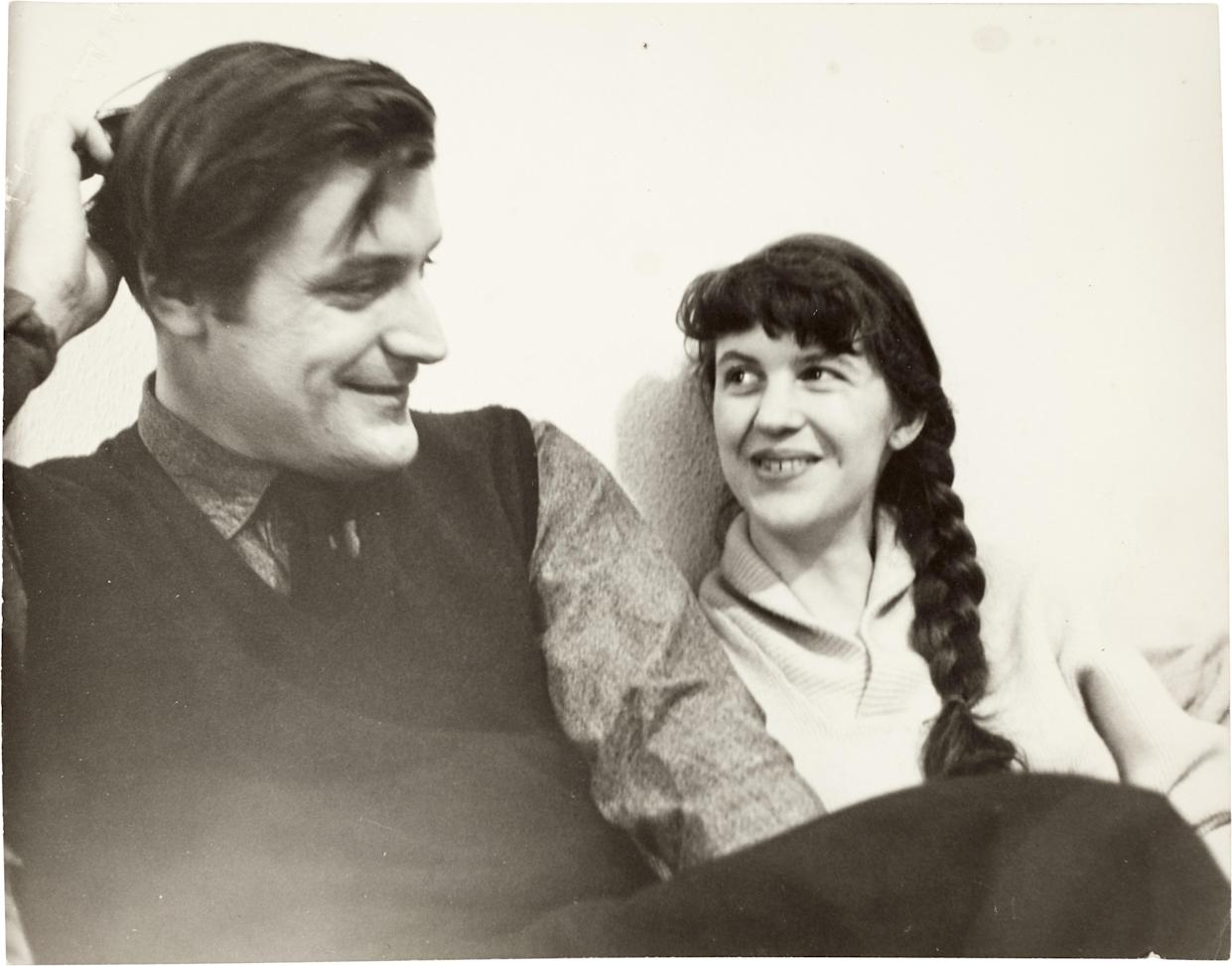 Photograph of Ted Hughes and Sylvia Plath