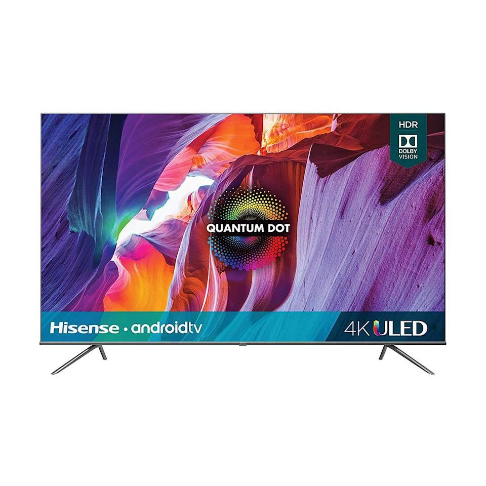 """<p><strong>Hisense</strong></p><p>bestbuy.com</p><p><strong>$1249.99</strong></p><p><a href=""""https://go.redirectingat.com?id=74968X1596630&url=https%3A%2F%2Fwww.bestbuy.com%2Fsite%2Fhisense-75-class-h8g-quantum-series-led-4k-uhd-smart-android-tv%2F6402784.p%3FskuId%3D6402784&sref=https%3A%2F%2Fwww.bestproducts.com%2Ftech%2Felectronics%2Fg33535079%2Fbest-75-inch-big-screen-tv%2F"""" target=""""_blank"""">Shop Now</a></p><p><strong><em>Editor's Note</em>: <em>TCL recently announced its </em><em><em>newest 75-inch TV, the <a href=""""https://www.amazon.com/dp/B08C67986B/ref=twister_B08FNT65ZN?_encoding=UTF8&psc=1&tag=syn-yahoo-20&ascsubtag=%5Bartid%7C2089.g.33535079%5Bsrc%7Cyahoo-us"""" target=""""_blank"""">TCL 6-Series</a>, we hope to evaluate its new model soon.</em></em></strong><br></p><p>Despite its lower price point, the H8G Quantum has remarkably thin bezels, a beautiful metal stand, and solid picture quality. While this model won't rival high-end TVs from LG, Samsung, and Sony, it supports HDR and offers vivid colors and deep black shades for movie and television watching.</p><p>This model runs Android TV, supports Google Assistant integration, and includes a useful voice-controlled remote. It's worth mentioning the Hisense does <em>not</em> have HDMI 2.1 ports, which are commonly found on TVs in this size. It doesn't have support for eARC, either, and both are important features for future-proofing your TV to use with next-generation video game consoles and speakers.</p><p>Regardless, if you want to stretch your dollar further, the Hisense finds the best balance between price and performance for a 75-inch TV.</p>"""