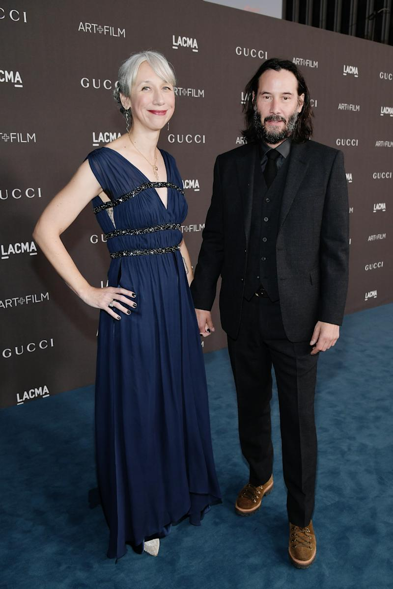 Alexandra Grant and Keanu Reeves attend the 2019 LACMA 2019 Art + Film Gala Presented By Gucci at LACMA on 2 November. [Photo: Getty]