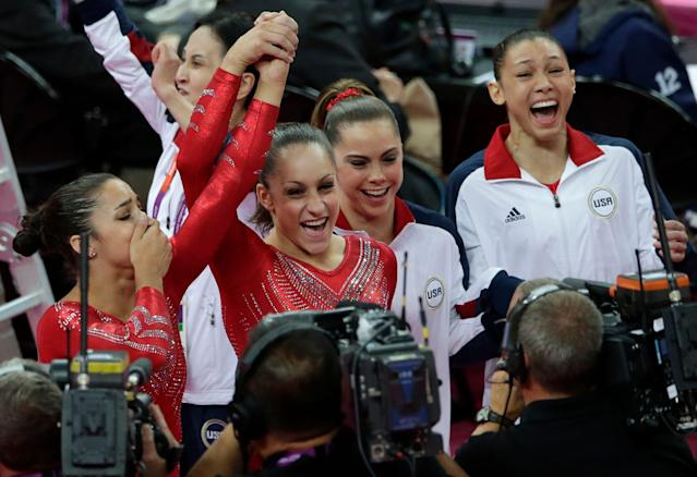 Jordyn Wieber was the first of the Fierce Five to retire from competitive gymnastics. She seems to have found a calling as a coach. (AP Photo/Gregory Bull)