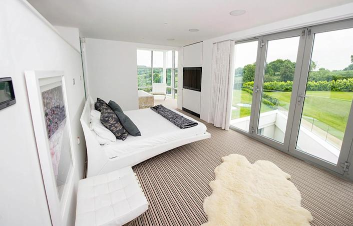 <p>The lavish master suite takes up the entire top floor. </p>