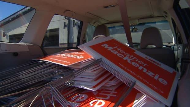 Edmonton Centre's NDP candidate Heather MacKenzie came in a close third in last week's federal election, seeing a boost in vote share common to orange campaigns across all Edmonton ridings. (Craig Ryan/CBC - image credit)