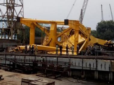 At least 11 dead after industrial crane collapses at Hindustan Shipyard site in Visakhapatnam