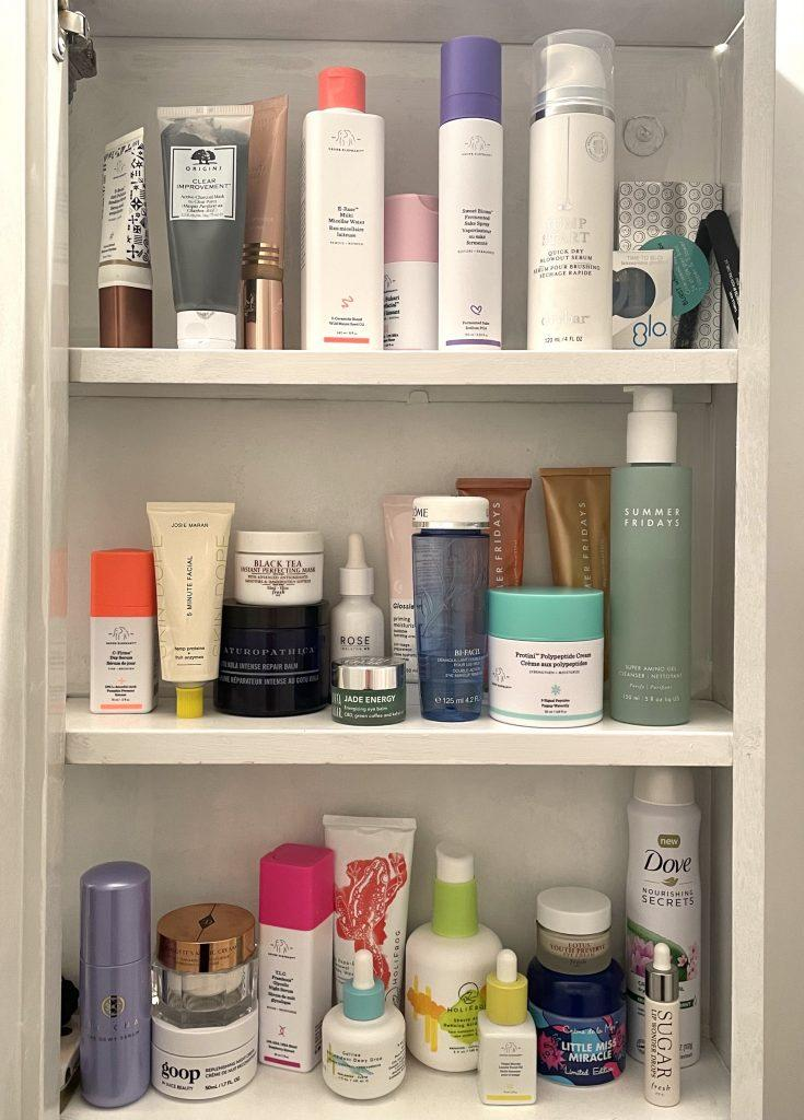 A snapshot of my current skin care/medicine cabinet.Credit: Julia Webb for In The Know