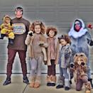 """<p>Mufasa, Sarabi, Simba, and Nala make for the perfect family costume. You can even add in Timon, Pumbaa, and Rafiki for those with families bigger than four. </p><p><a class=""""link rapid-noclick-resp"""" href=""""https://www.amazon.com/s?k=The+Lion+King+costume&ref=nb_sb_noss_2&tag=syn-yahoo-20&ascsubtag=%5Bartid%7C2089.g.22530616%5Bsrc%7Cyahoo-us"""" rel=""""nofollow noopener"""" target=""""_blank"""" data-ylk=""""slk:SHOP THE LOOKS"""">SHOP THE LOOKS</a></p><p><strong>Instagram:</strong> <a href=""""https://www.instagram.com/p/Bz-2DW2hrE-/"""" rel=""""nofollow noopener"""" target=""""_blank"""" data-ylk=""""slk:@kelseyandco9"""" class=""""link rapid-noclick-resp"""">@kelseyandco9</a></p>"""