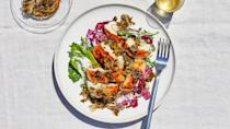 """<a href=""""https://www.bonappetit.com/recipe/grilled-chicken-breasts-with-tadka-sauce?mbid=synd_yahoo_rss"""" rel=""""nofollow noopener"""" target=""""_blank"""" data-ylk=""""slk:See recipe."""" class=""""link rapid-noclick-resp"""">See recipe.</a>"""