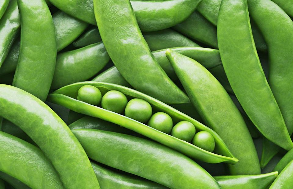 """<p>Don't even think about buying bags of frozen peas during the spring—they're best when they're fresh this time of year. """"Peas sometimes get a bad reputation because they're a 'starchier' vegetable, but they're actually a great vegetable to include in your diet,"""" Nadeau explains. """"One cup of green peas has 7 grams of fiber and an impressive 8 grams of protein. They're also rich in potassium and vitamin C."""" They're also sweet, crisp, and very versatile. </p>"""