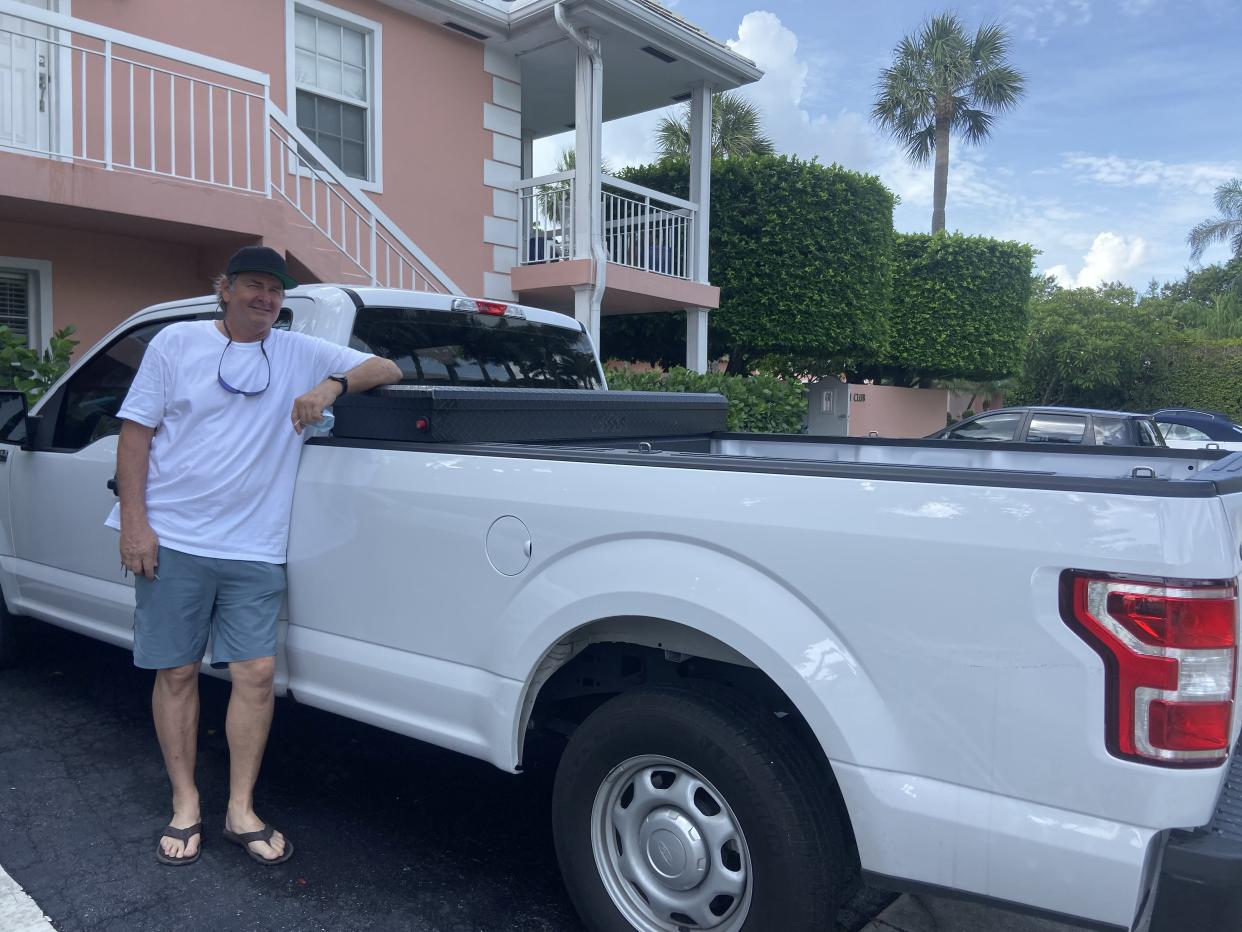 Rob Robinson, of Lake Worth, Florida, traveled 650 miles to buy the truck he spent a year looking for. (Photo courtesy of Rob Robinson)