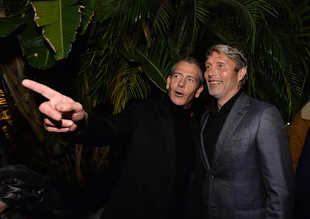 LOS ANGELES, CA - DECEMBER 08: Actors Ben Mendelsohn and Mads Mikkelsen attend the 2016 GQ Men of the Year Party at Chateau Marmont on December 8, 2016 in Los Angeles, California. (Photo by Stefanie Keenan/Getty Images for GQ)