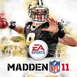 madden 11 game box drew bees