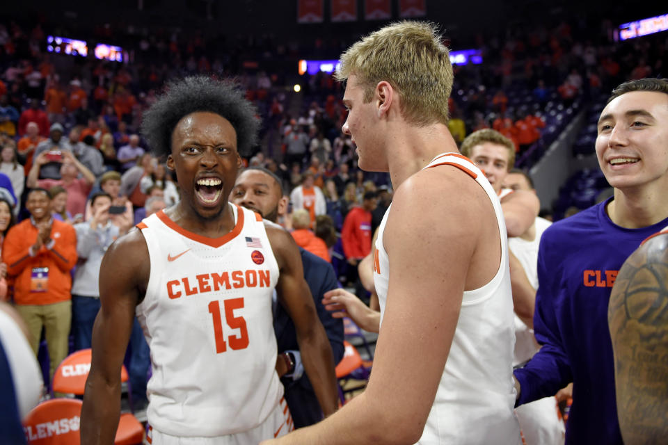 Clemson defeated No. 3 Duke 79-72 on Tuesday, marking the 11th time a top 5 team has lost to an unranked opponent this season. (AP Photo/Richard Shiro)
