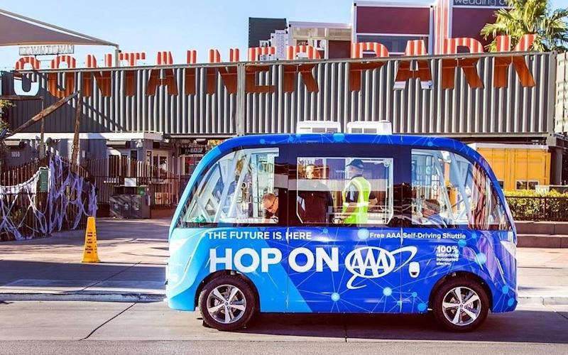 The self driving vehicle was starting its trial on Wednesday - City of Las Vegas