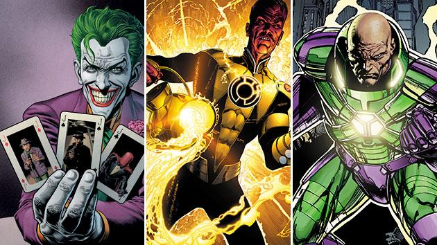 The Joker, Sinestro, and Lex Luthor