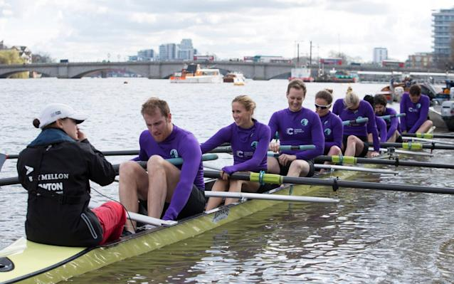 <span>Glover skippered a boat in the Celebrity Boat Race that raises money for Cancer Research</span> <span>Credit: News Scan </span>