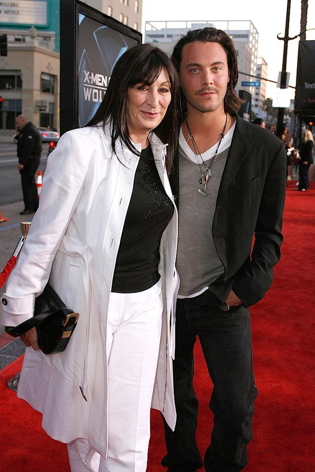 """<a href=""""http://movies.yahoo.com/movie/contributor/1800020829"""">Anjelica Huston</a> and Jack Huston at the Los Angeles premiere of <a href=""""http://movies.yahoo.com/movie/1808665084/info"""">X-Men Origins: Wolverine</a> - 04/28/2009"""