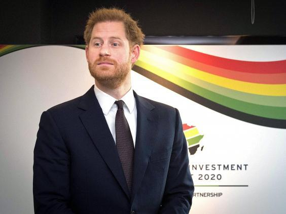 Prince Harry was in attendance at the UK-Africa Investment Summit on Monday (Getty)