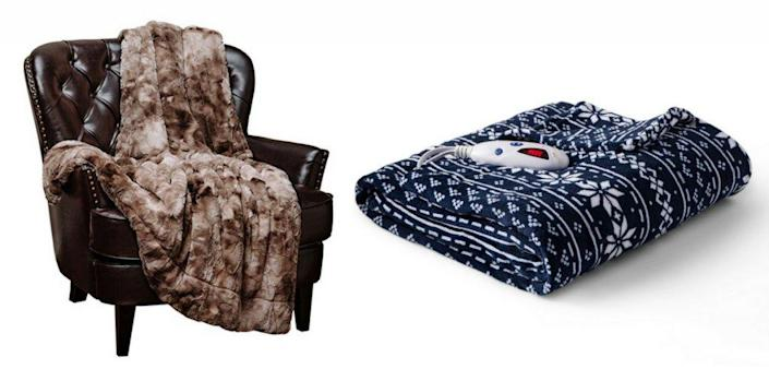throw blanket and electric blanket