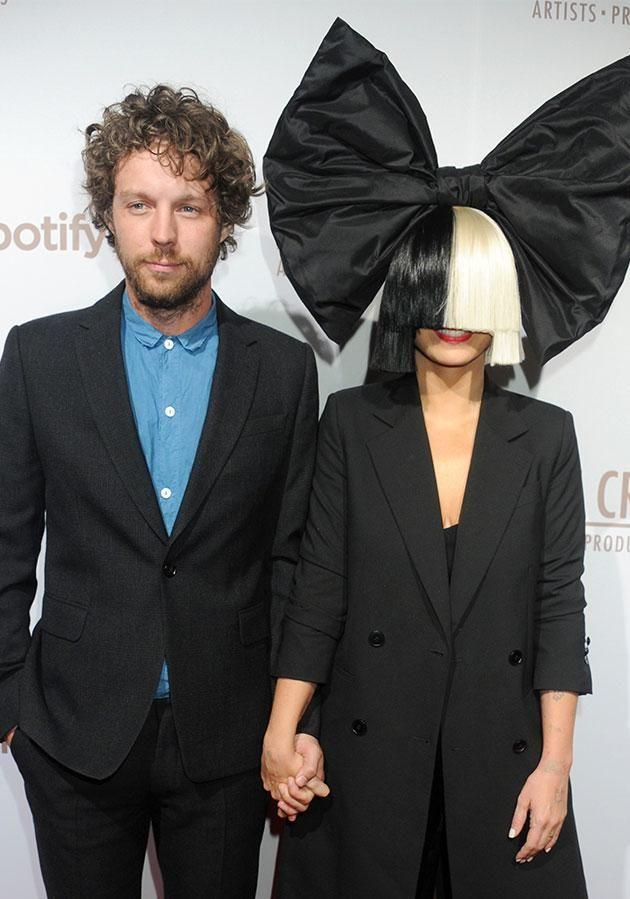 Sia an husband Erik of two years have split. Photo: Getty Images