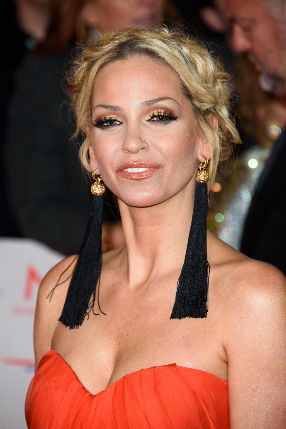 LONDON, ENGLAND - JANUARY 23: Sarah Harding attends the National Television Awards 2018 at The O2 Arena on January 23, 2018 in London, England. (Photo by Joe Maher/FilmMagic)