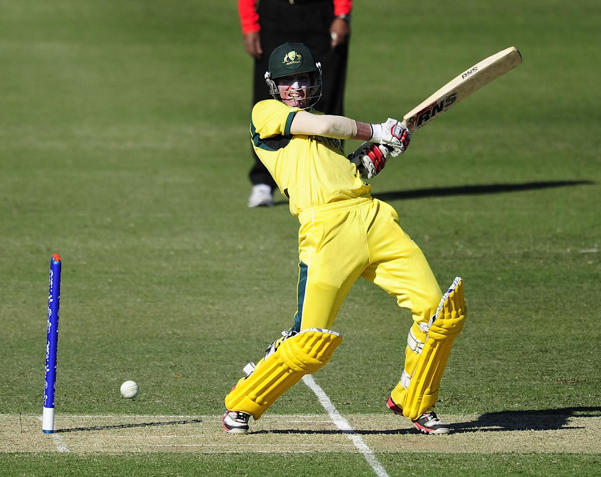 TOWNSVILLE, AUSTRALIA - AUGUST 11:  William Bosisto of Australia bats during the ICC U19 Cricket World Cup 2012 match between Australia and England at Tony Ireland Stadium on August 11, 2012 in Townsville, Australia.  (Photo by Ian Hitchcock-ICC/Getty Images)