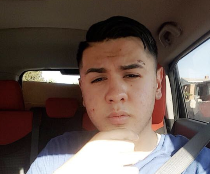 Andre Anchondo in a car selfie.