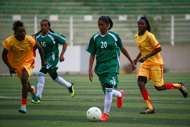 Sudanese women's football faced an uphill battle after the country adopted Islamic sharia law in 1983, six years before then-brigadier Omar al-Bashir seized power in an Islamist-backed coup (AFP Photo/Ashraf SHAZLY)