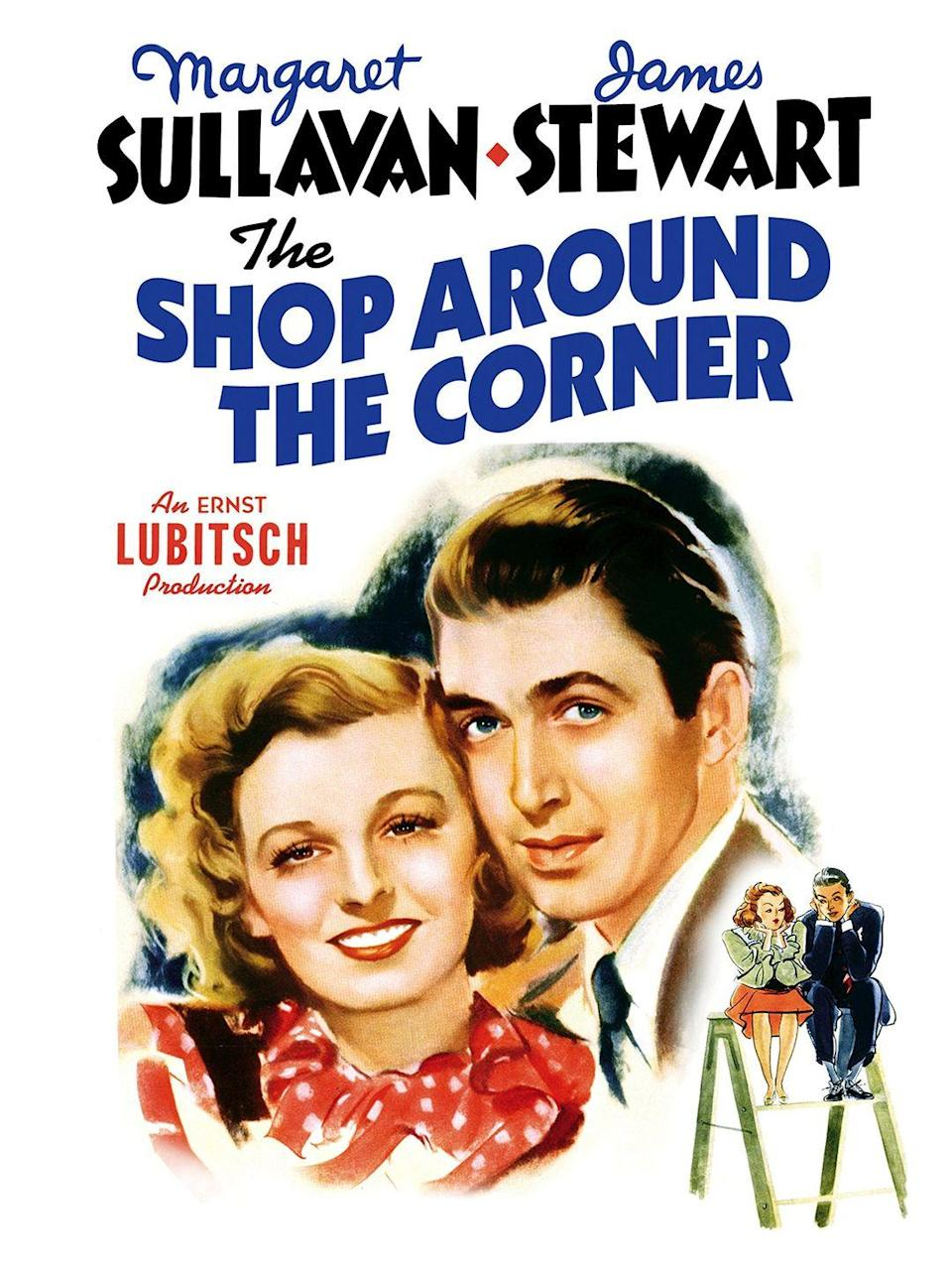 """<p>The plot of this 1940 black-and-white Christmas film is pretty much the same as <em>You've Got Mail </em>— just swap emails for letters and Tom Hanks for Jimmy Stewart, and there you have it.</p><p><a class=""""link rapid-noclick-resp"""" href=""""https://www.amazon.com/Shop-Around-Corner-James-Stewart/dp/B004GAKENI/?tag=syn-yahoo-20&ascsubtag=%5Bartid%7C10055.g.1315%5Bsrc%7Cyahoo-us"""" rel=""""nofollow noopener"""" target=""""_blank"""" data-ylk=""""slk:WATCH NOW"""">WATCH NOW</a></p><p><strong>RELATED: </strong><a href=""""https://www.goodhousekeeping.com/holidays/christmas-ideas/g30171690/forgotten-christmas-movies/"""" rel=""""nofollow noopener"""" target=""""_blank"""" data-ylk=""""slk:40 Forgotten Christmas Movies You Should Watch Right Now"""" class=""""link rapid-noclick-resp"""">40 Forgotten Christmas Movies You Should Watch Right Now</a></p>"""