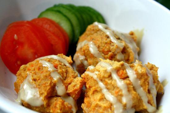 """<p>Who doesn't love a falafel? Pop these nutritional powerhouses in a pita for a sweeter - and altogether neater - lunchtime boost.</p><p>Get the recipe from <a href=""""http://www.glowkitchen.com/2012/10/baked-sweet-potato-falafel/"""" rel=""""nofollow noopener"""" target=""""_blank"""" data-ylk=""""slk:Glow Kitchen"""" class=""""link rapid-noclick-resp"""">Glow Kitchen</a>.</p><p><br></p>"""