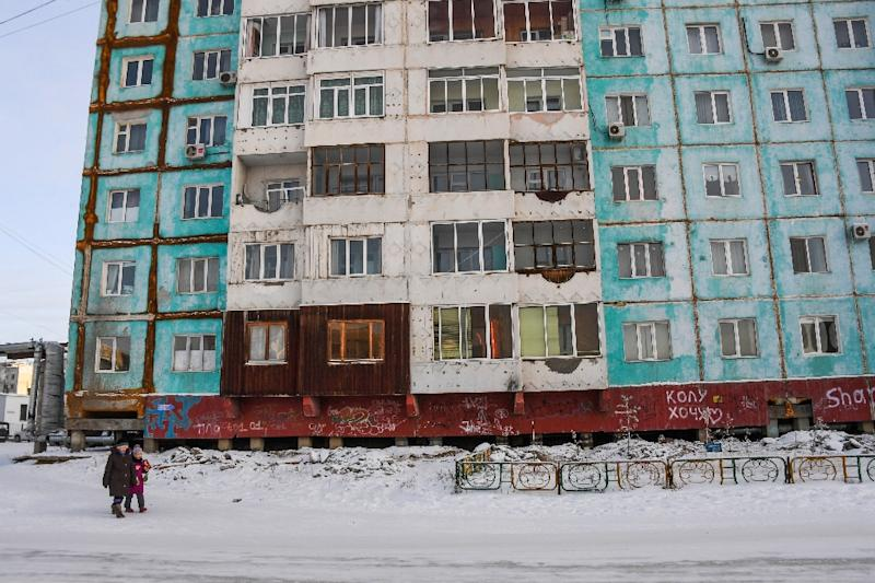 Researchers modelled how many buildings, roads, railways and other construction could be at risk from thawing permafrost by 2050 (AFP Photo/Mladen ANTONOV)