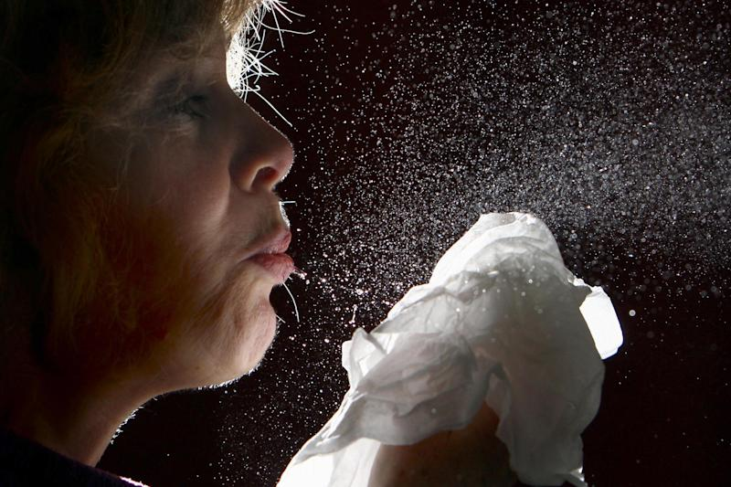 Sneezes should be caught in a tissue (PA)