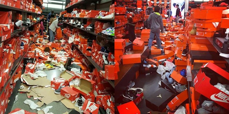 1863ff8bc Shoppers Completely Tore Apart a Nike Store on Black Friday
