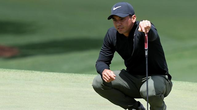 Australian golfer Jason Day carded a two-over-par 74 in difficult conditions at the Masters on Thursday.